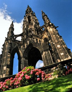 The Walter Scott Monument, aka 'The Gothic Rocket'